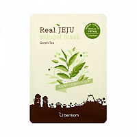 Маска для лица с экстрактом зеленого чая Berrisom Real Jeju Skingel Mask Green Tee Moisture 25ml